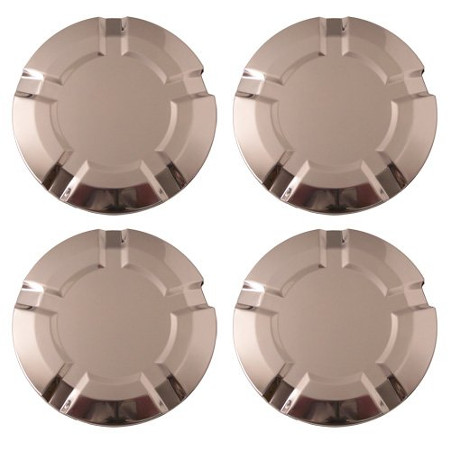 Set of 4 Chrome Replacement Center Caps (hub covers) 2007 - 2009 Chevy Trailblazer w 18x8 Inch 6 Lug 5 Spoke Alloy Wheel -Aftermarket: C5311 ()