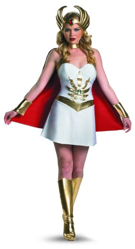 Disguise Women's Masters Of The Universe She Ra Deluxe Costume, White/Gold/Red, Medium