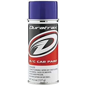 DuraTrax Polycarbonate Radio Control Vehicle Body Spray Paint, 4.5 Ounces, Purple
