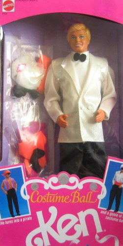 Barbie Ken Costumes (1990 Costume Ball Ken Barbie Doll)