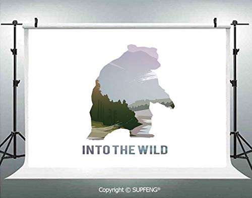 Photography Background Wild Animals of Canada Survival in The Wild Theme Hunting Camping Trip Outdoors Decorative 3D Backdrops for Photography Backdrop Photo Background Studio Prop -
