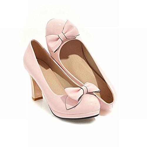 Mee Shoes Women's Office Slip On High Heel Court Shoes Pink iWZ2BLk