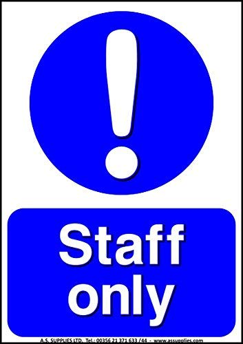 hiusan Staff Only Health Safety Hazard Toilet Mandatory Warning Caution Sticker Sign Adhesive A7 from hiusan