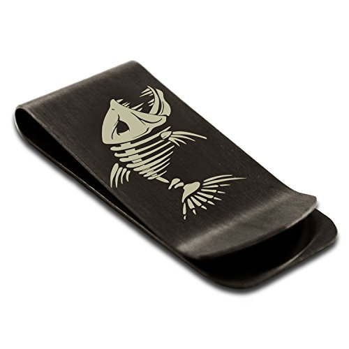 Money Card Black Engraved Steel Holder Credit Clip Tioneer Hellfish Stainless Vicious xAXqwn1T6