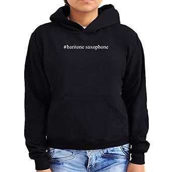 #Baritone Saxophone Hashtag Women Hoodie