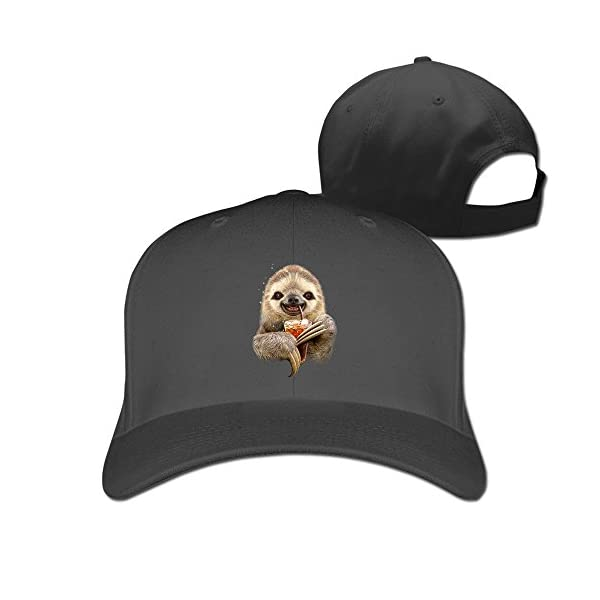 Unisex Custom Adjustable Sloth &Amp; Soft Drink Peaked Snapback Cap One Size -