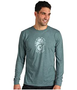 Life is Good Men's Cool Long Sleeve Tee, Slow Fade Bike, Spruce Green, Small