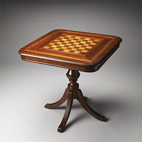 Butler Specialty Company Game Table, Antique Cherry Antique Chess Table
