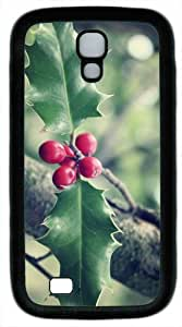 Christmas Leaves Custom Samsung Galaxy S4 / SIV/ I9500 Case Cover ¨C TPU ¨C White