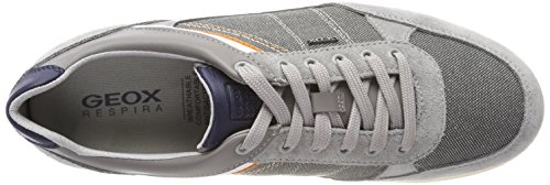Geox Men's U Renan B Trainers, Navy Grey (Lt Grey/Stone)