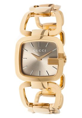 Women's Gray Dial Rose Gold Tone Ion Plated Stainless Steel - Gucci Stainless Steel Wrist Watch