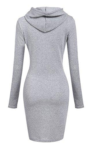 Capuchon Sweat Shirts Pullover Robe des Les Poche en Femmes Gray Sweats wPqw4gpZ