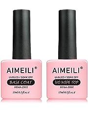 AIMEILI Top Coat en Base Cost Gel Nagellak UV LED Gellack Soak Off 2x15ml
