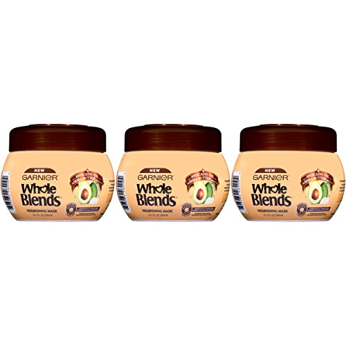 Garnier Hair Care Whole Blends Nourishing Mask with Avocado Oil & Shea Butter Extracts for Dry Hair, 3 Count ()