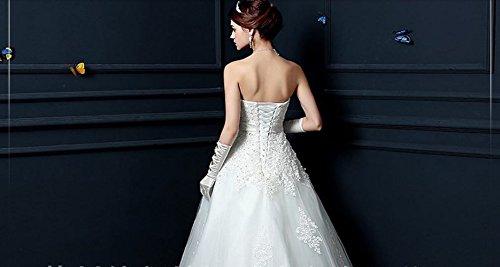 Hochzeit trägerlosen Europäische Braut und Weiß MoMo Hochzeit Blume Schwanz Spitzen Langen Hochzeit Brautkleid Einfache Amerikanische Gericht Spitze xqOIwwd0A