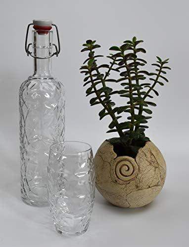 Bormiioli Oriente - Juego de 6 Botellas de Cristal (1 L), Vidrio ...