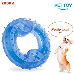 ZNOKA Pet Products Arctic Freeze Fetch Food Cooling Teether Chew Toy (Ring)