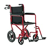 Invacare Aluminum Transport Chair with 12 Rear Wheels""