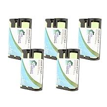 5x Pack - Panasonic KX-TGA510M Battery - Replacement for Panasonic Cordless Phone Battery (700mAh, 3.6V, NI-MH)