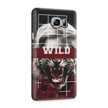 Wild Roses Half Tiger Half Blonde Head Plastic Phone Snap On Back Cover Shell For Samsung Galaxy Note 5