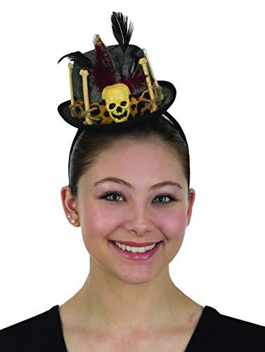 Womens Mini Witch Doctor Top Hat Headband Voodoo Cap Halloween Costume Accessory ()