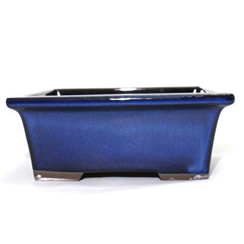 Bonsai Pot Ceramic Rectangle Glazed (6, Namako-Yu) ()