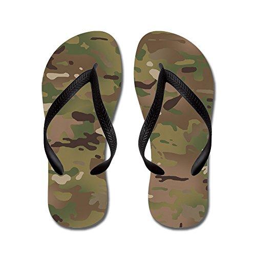 Motivo Militare Mimetico Militare - Infradito, Sandali Infradito Divertenti, Sandali Da Spiaggia Neri