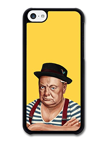 New Winston Churchill, Hipster Colourful Illustration Design coque pour iPhone 5C