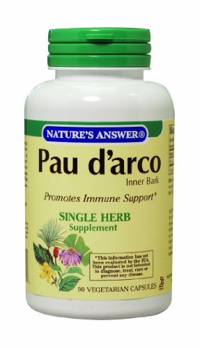 Nature's Answer Pau D'arco Inner Bark, Vegetarian Capsules, 90-Count by Nature's Answer