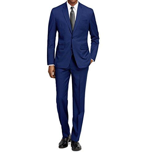 Braveman Men's Slim Fit 2 pc Suits, Electric Blue, Size 40R/34W ()