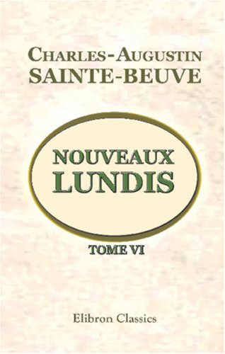 Download Nouveaux lundis: Tome 6 (French Edition) PDF