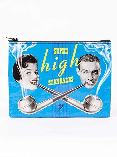 Blue Q Bags, Zipper Pouch, Super High Standards