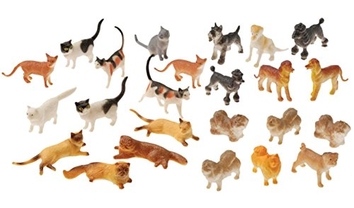 Dog Figure Miniature - Nikki's Knick Knacks 24 Plastic Cat and Dog Figure Toys