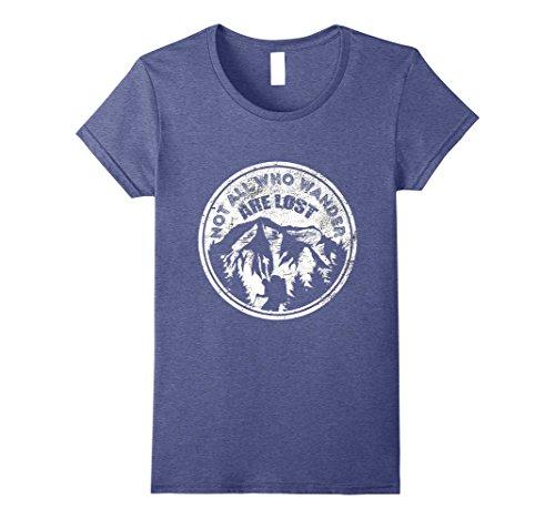 Womens Hiking T Shirt   Mountain Backpacking Nature T Shirt Xl Heather Blue