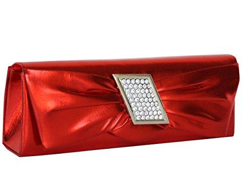 fashion-formel, Borsa a mano donna Rosso rosso s