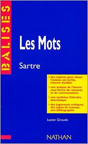 """Livres gratuits en ligne """"Les mots"""", Jean-Paul Sartre : Des repères pour situer l'auteur... epub pdf"""
