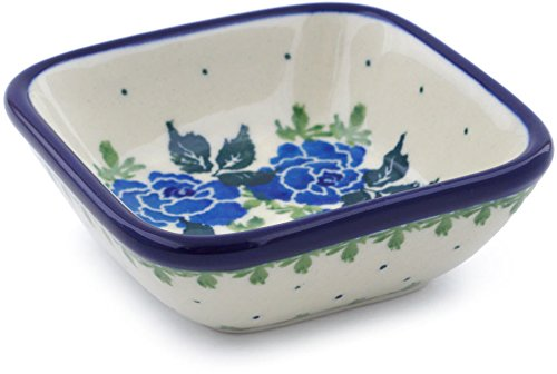 Polish Pottery 3-inch Bowl made by Ceramika Artystyczna (Blue Garland Theme) + Certificate of Authenticity ()