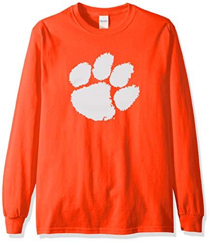 Elite Fan Shop NCAA Men's Clemson Tigers Long Sleeve Shirt Team Icon Clemson Tigers Orange X Large