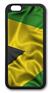 """Custom DIY Case for iphone 6, Jamaican Flag Hard PC Back Protective Case for iphone 6 4.7"""" Snap On Cover Black Case-188"""