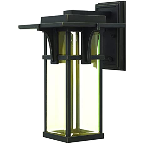 Hinkley 2324OZ LED Transitional One Light Wall Mount From Manhattan Collection In Bronze Darkfinish