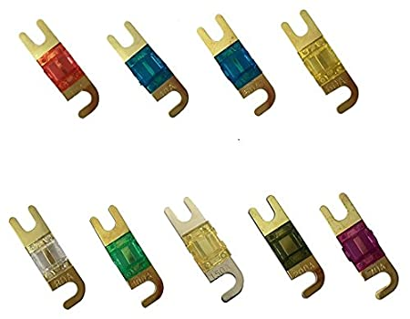 15 Pack 100 AMP Gold Mini ANL Fuses 100A Car Truck Boat Marine RV 225FWY