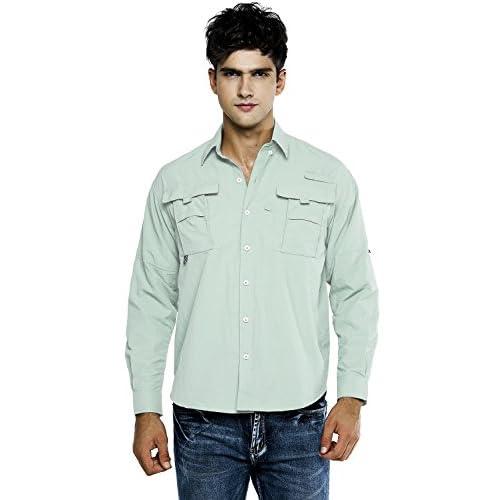 OCHENTA Men's Quick Dry Sun UV Protection Long Sleeve Shirt for Hiking Camping Fishing