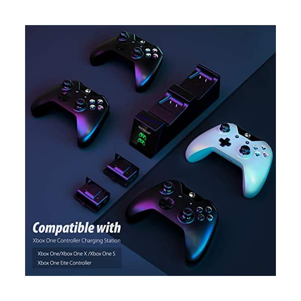 Controller Charger for Xbox One,YCCTEAM Rechargeable Battery Pack for Xbox One, Xbox One X, Xbox One S, Xbox One Elite… 4