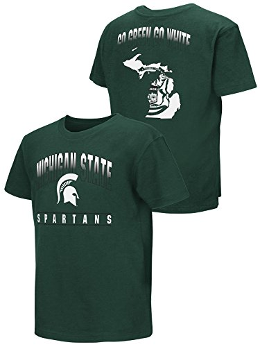 Colosseum Michigan State Spartans Youth BOY Green Go Green Go White T-Shirt -