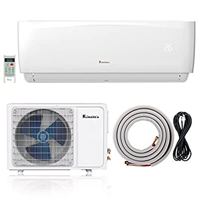 Klimaire Ductless Mini-Split Inverter Air Conditioner Heat Pump With 16 Ft Installation Kit (230 Volt)