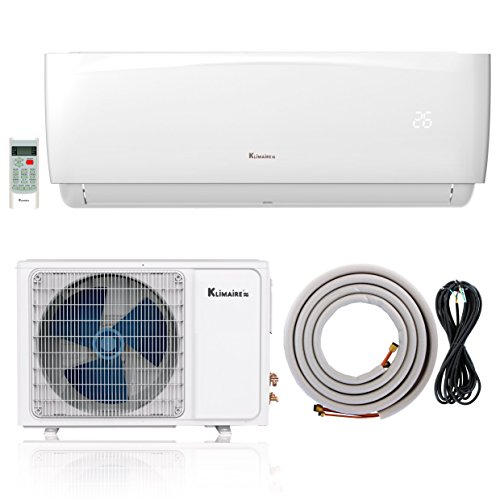 Klimaire 12,000 BTU 16 SEER Ductless Mini-Split Inverter Air Conditioner Heat Pump With 16 Ft Installation Kit (230 (Heat Pump Hspf)