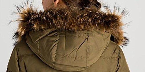 Down Damen C Wintermantel Jacket 92486 Female Fashion Mantel Long Winterparka Winter Sublevel Hooded Section 54q5OwX