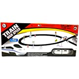 Bluebells High Speed Bullet Train Toy Set with Signal, Tracks (Large 370 cm Perimeter) for Kids