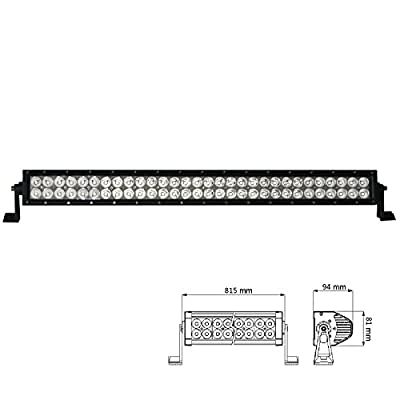 Kingway 32Inch 180W 12/24V High Intensity LED Light Bar Driving Light Flood Spot Combo Beam Water Resistance for off road SUV Truck ATV With Wiring Harness Kit