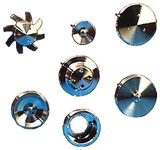March Performance 1550 Performance Series Clear Powdercoat Aluminum V-Belt Pulley Kit - Set of 3 by MARCH